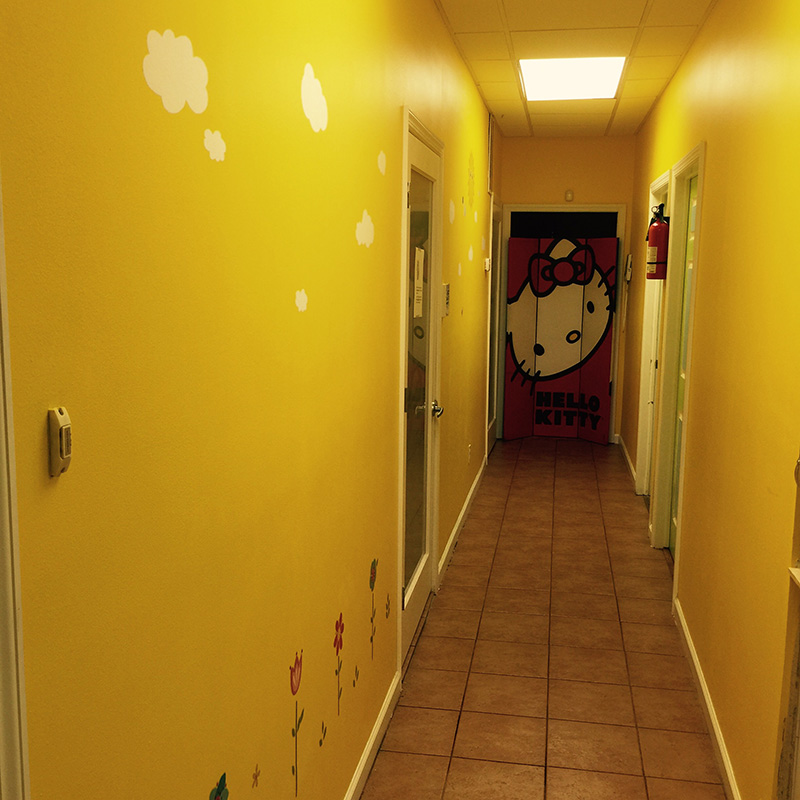 Office hallway for Pediatric dentist Dr. Sue Hwang in Jackson Heights, NY